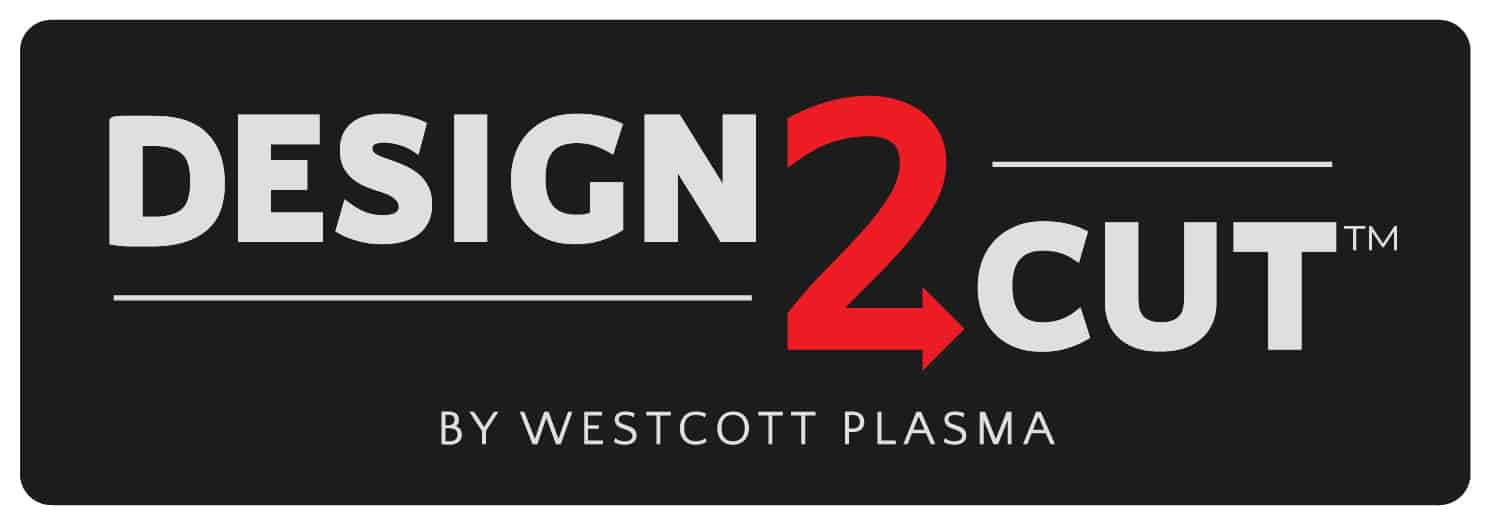 Design2Cut CAD, CAM, and CNC Software Logo by Westcott Plasma
